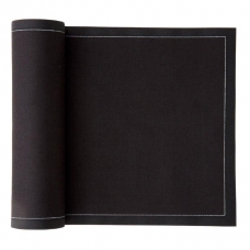Small Cotton Cocktail Napkins  (16 x16cm) Bulk Roll - Black